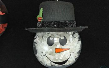 diy christmas ornaments crinkle paper shred characters, christmas decorations, seasonal holiday decor