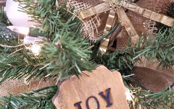 2 Quick and Easy Wooden Plaque Ornaments