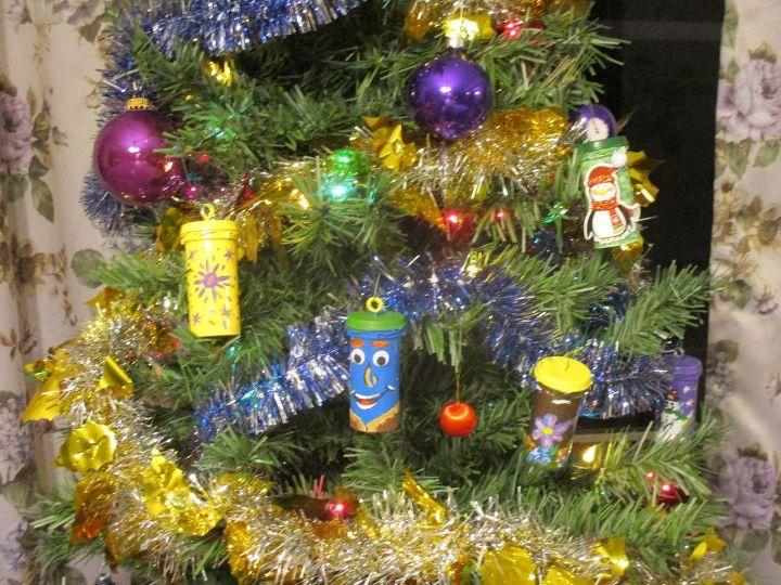 re purposed pill bottle christmas tree ornaments christmas decorations seasonal holiday decor - Christmas Tree Ornaments