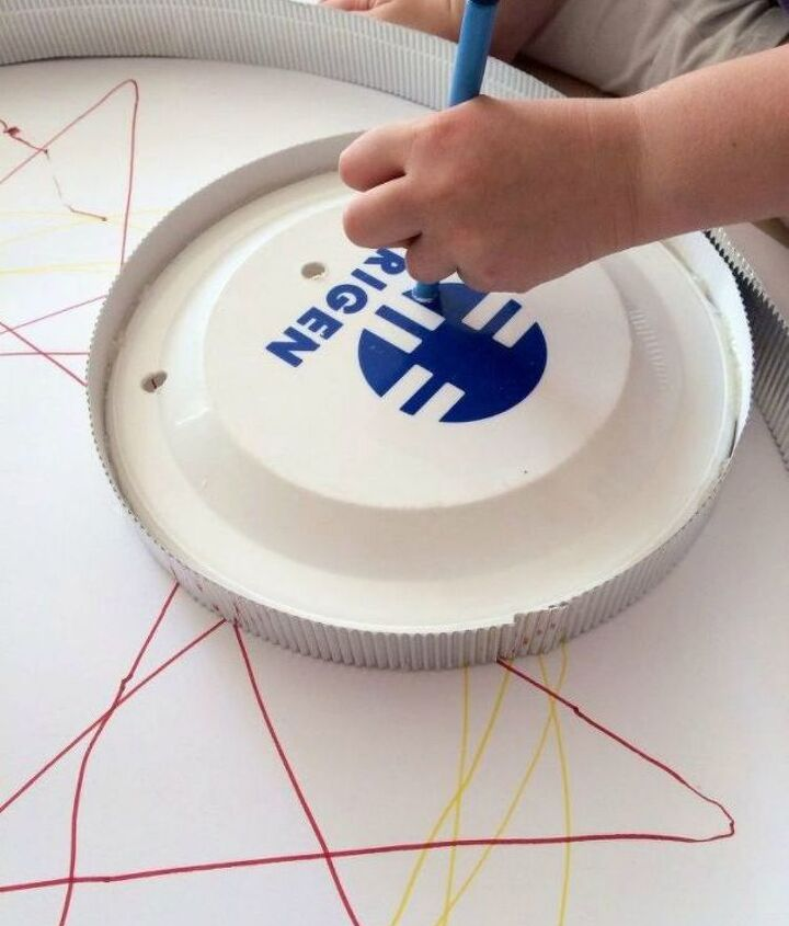 s grab a hoola hoop for these 10 amazing decor ideas, home decor, Make a fun spirograph for your kids