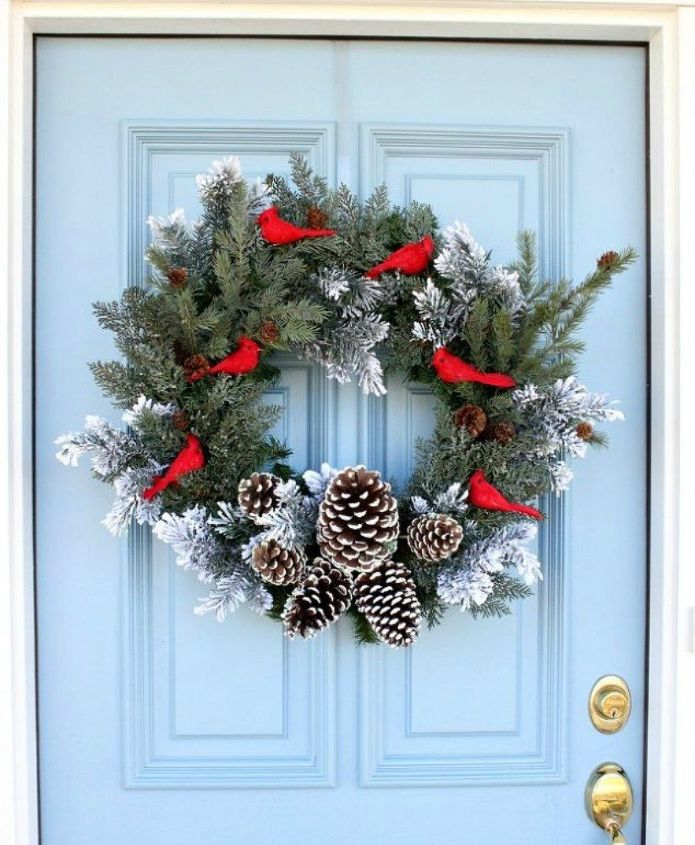 s don t hang your wreath before you see these 12 updates, crafts, wreaths, Add fake sprigs to plump it up