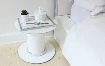 Upcycle a Cable Spool Into a Bedside Table