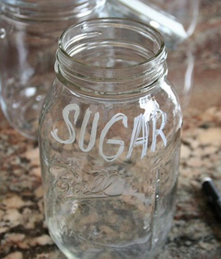 organize dry pantry items with ikea jars and chalk markers , closet, organizing
