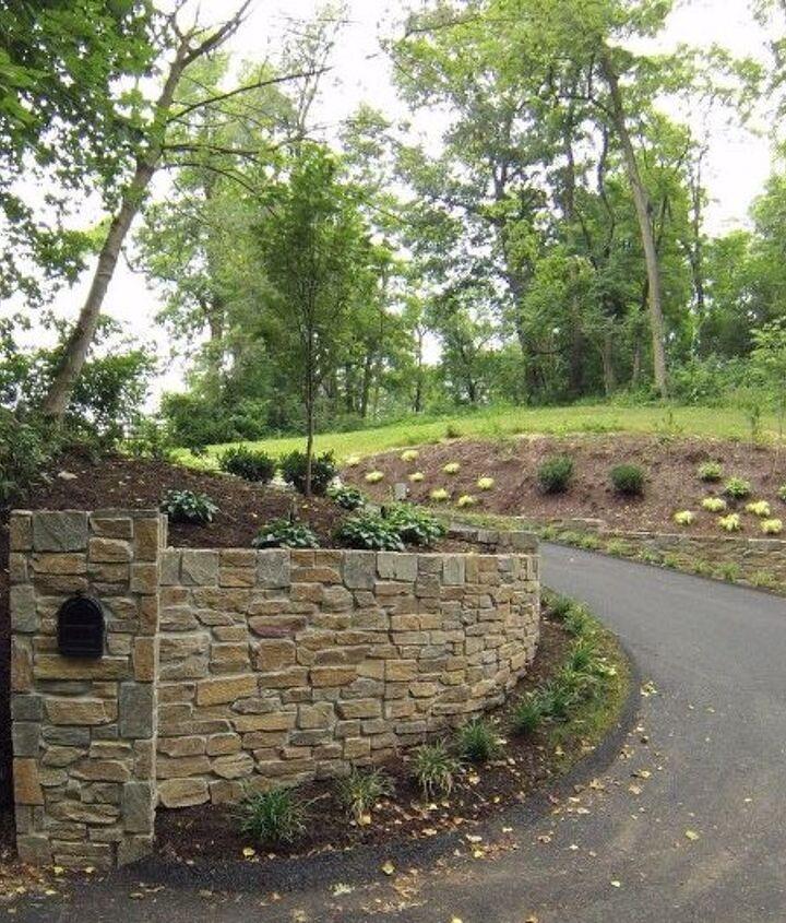 driveway landscape before after , concrete masonry