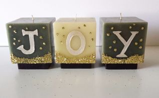 how to turn your candles to a christmas decor, christmas decorations, home decor, how to