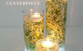 baby s breath submersible centerpiece, bedroom ideas
