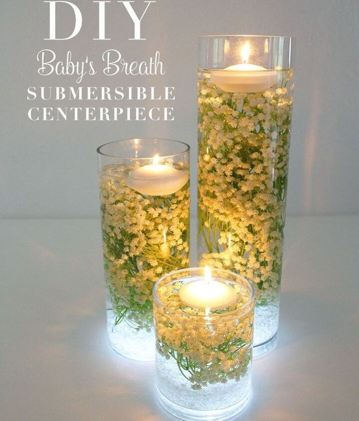 baby s breath submersible centerpiece, bedroom ideas