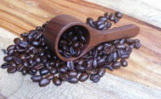 make a wooden coffee scoop, painted furniture