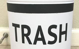 christmas tin to trash bin upcycle, composting, go green, storage ideas