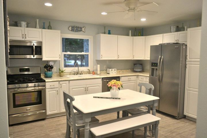 Outdated & Dark Kitchen Remodel Into a Bright, Cheery Coastal ...