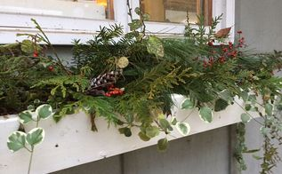 decorating window boxes for christmas