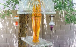 upcycled old glass to beautiful garden art, crafts