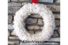diy wool christmas wreath, crafts, wreaths