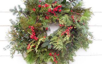 fresh evergreen wreath, crafts, gardening, wreaths