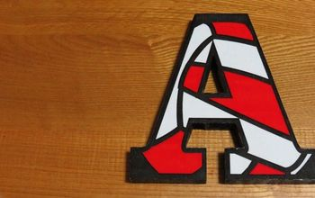 wood letter image transfer