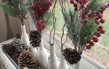 Christmas Wine Bottle Craft
