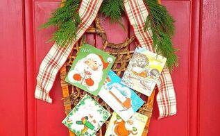 vintage snow shoe christmas wreath , crafts, wreaths