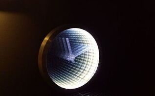 infinity mirror clock from an old clock, home decor