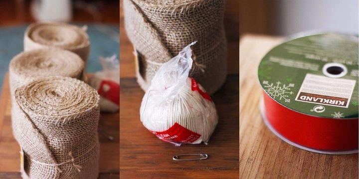 diy holiday burlap garland, crafts