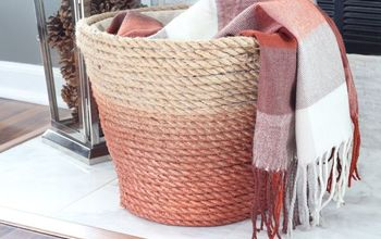 Dollar Store Laundry Basket Turned Chic Metallic Rope Basket