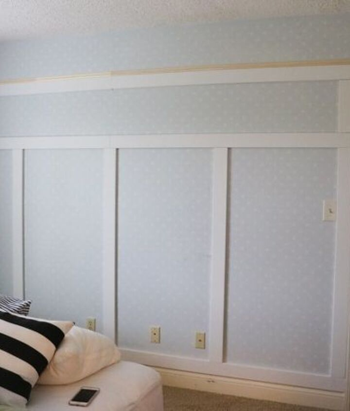 easy diy paneled wall