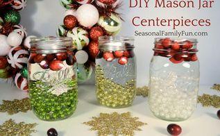 diy mason jar centerpeices, mason jars