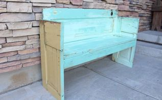 how to build a door out of an old bench, doors, how to, outdoor furniture