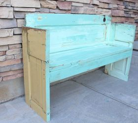 How To Build A Door Out Of An Old Bench, Doors, How To,