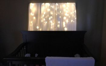 fairy light headboard alternative