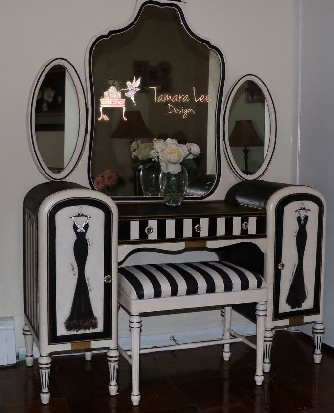 glam vanity makeover, bathroom ideas