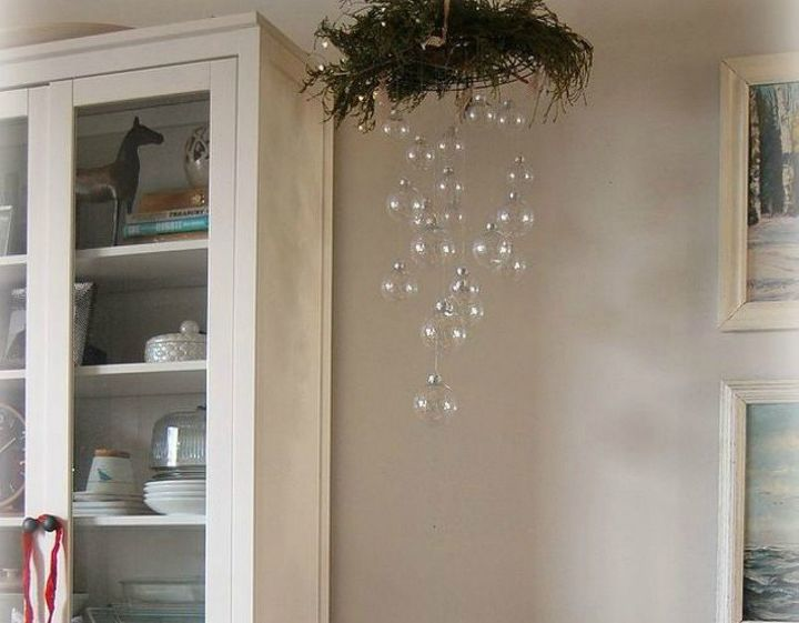s 15 christmas decor ideas you won t have to take down, christmas decorations, home decor, This stunning ornament chandelier
