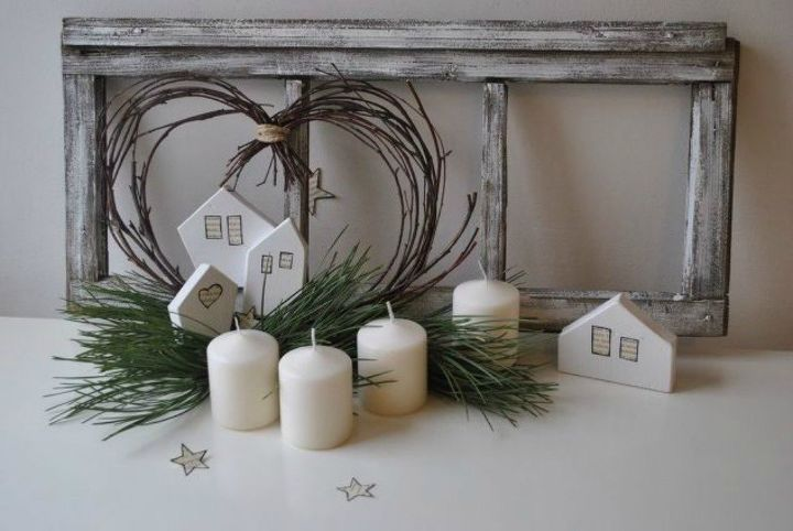 s 15 christmas decor ideas you won t have to take down, christmas decorations, home decor, This rustic window centerpiece