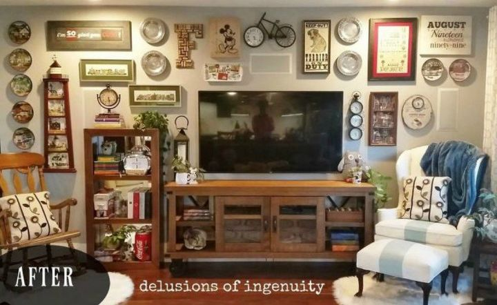 s 13 low budget ways to decorate your living room walls, go green, plumbing, Add a gallery wall of your favorite things