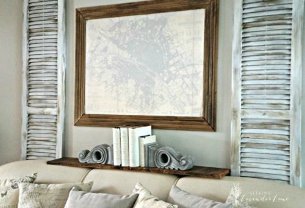 Add Some Rustic Shutters And A Shelf This Looking Wall Decor