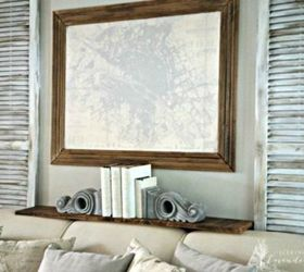 Ways To Decorate Your Living Room Part - 42: Add Some Rustic Shutters And A Shelf