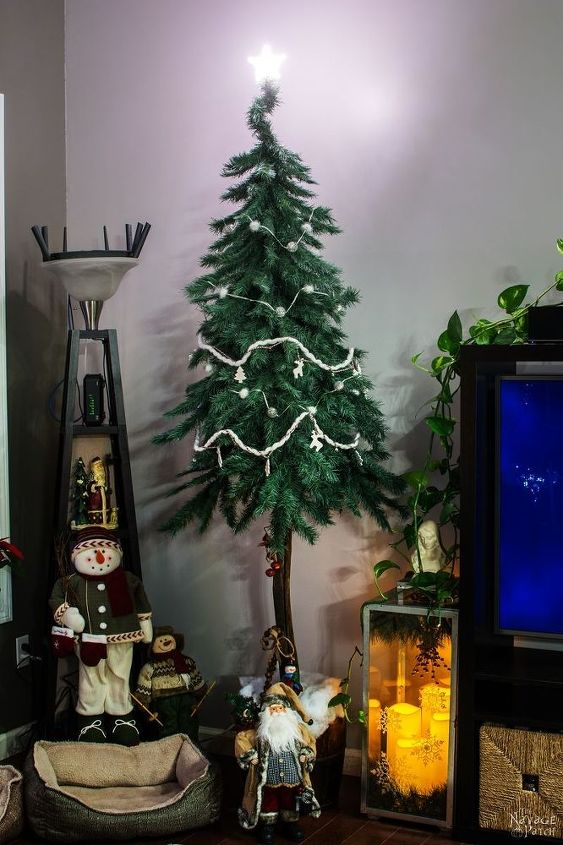faux christmas tree repurposed three ways