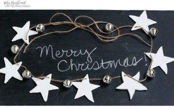 Easy Silver & White Rustic Christmas Garland