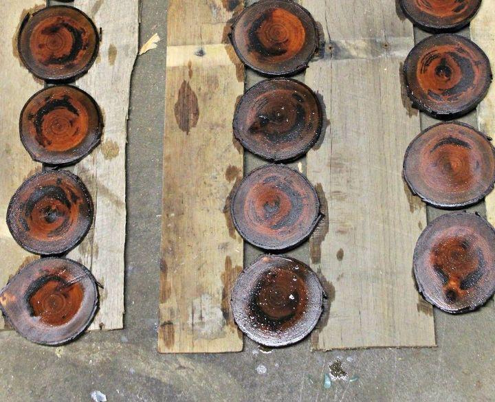 diy wood slice coasters