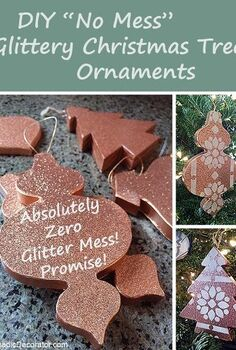 no mess glittery christmas tree ornaments, christmas decorations, seasonal holiday decor