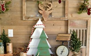 diy rustic christmas tree decoration