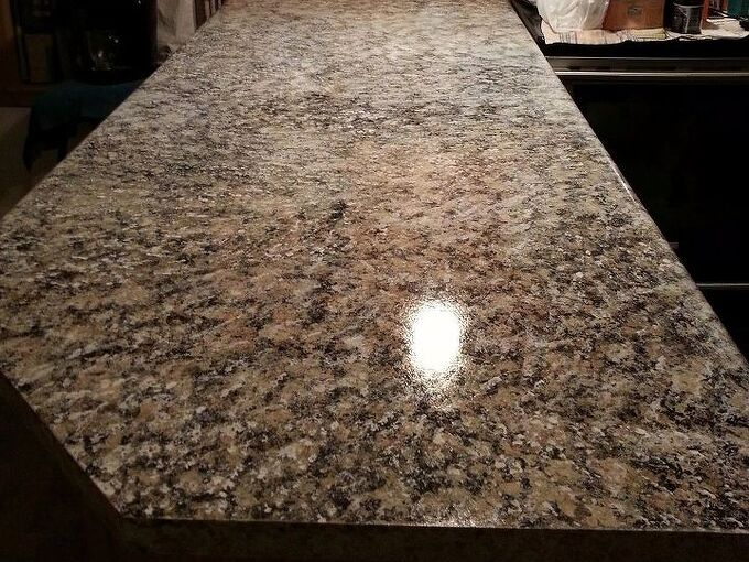 penninsula and painted granite on counter tops, countertops