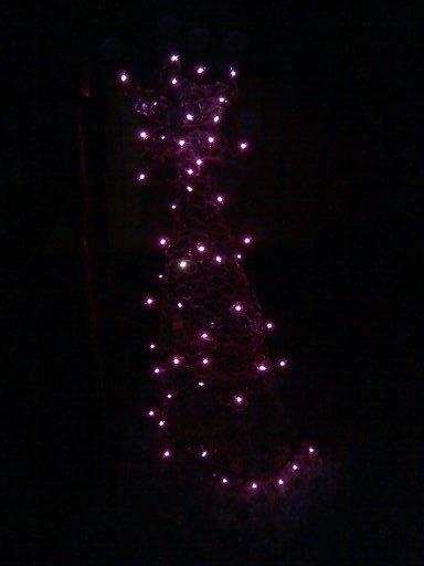 lighted chicken wire tree