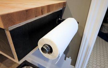 diy industrial pipe paper towel holder, plumbing