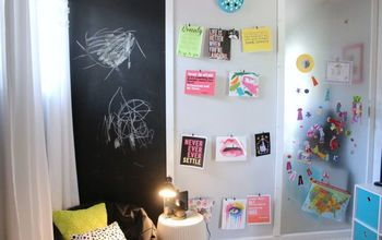 diy activity wall chalkboard magnet board art display organization, chalkboard paint, crafts, organizing