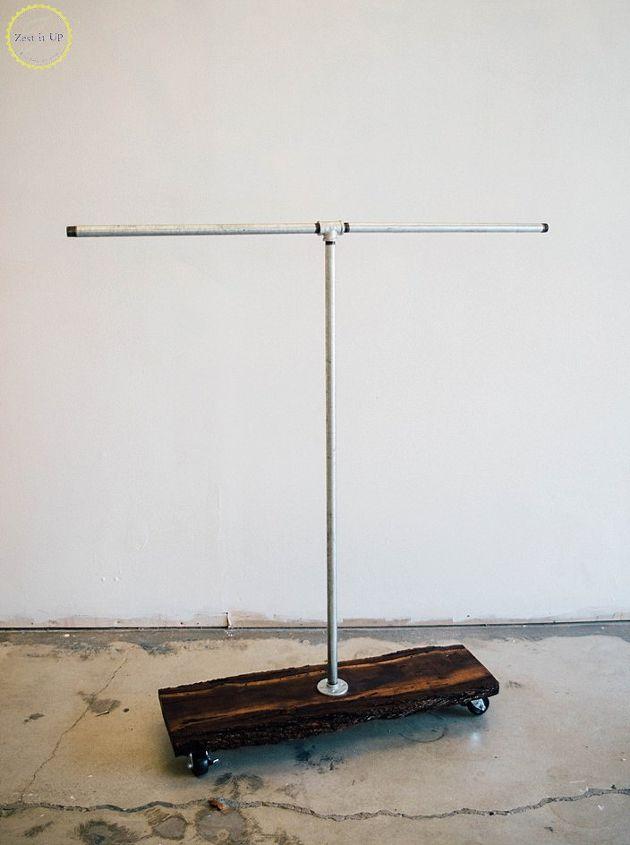 diy pipe clothing rack, plumbing