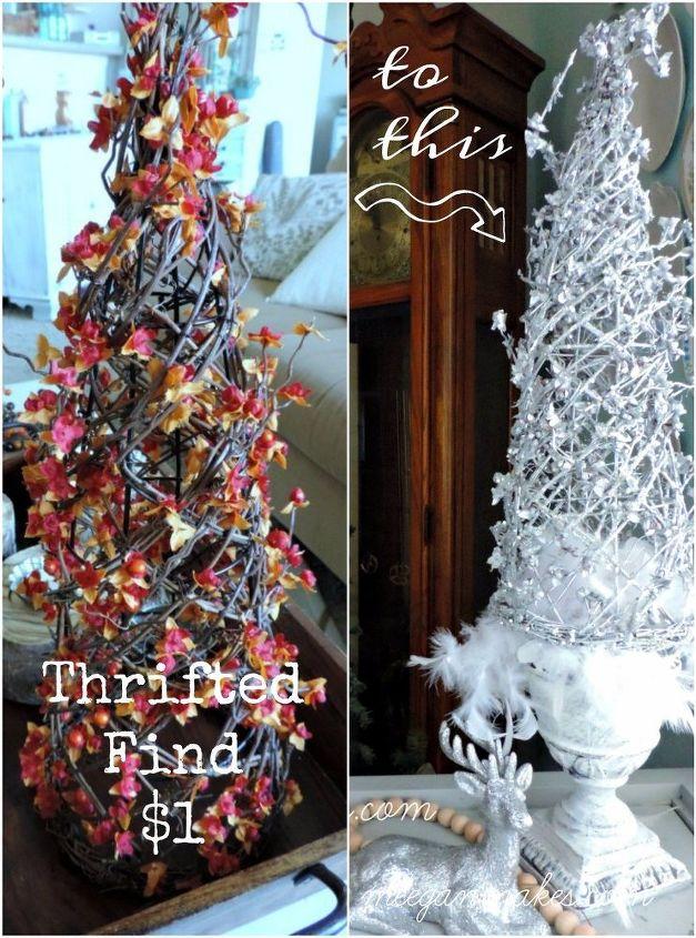 diy silver christmas tree