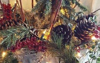 Olive Bucket Christmas Tree