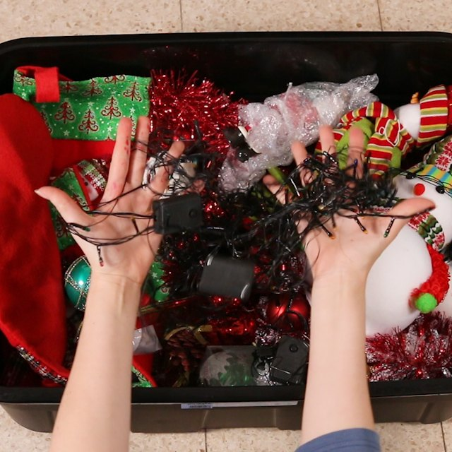 the best way to store christmas lights