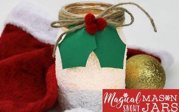 Snowy Mason Jar & Gift Tags
