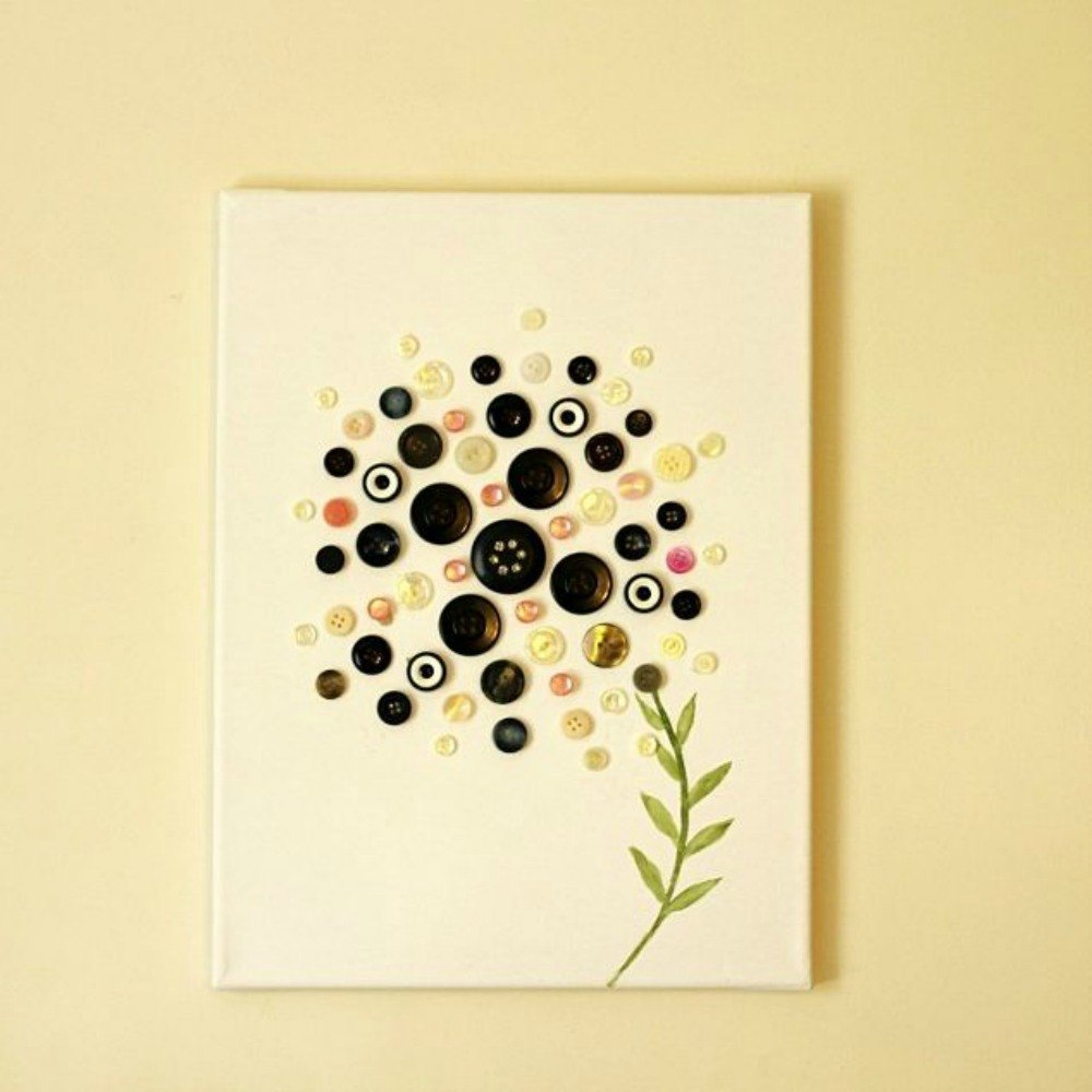 Enchanting Wall Art With Buttons Festooning - Wall Art Collections ...